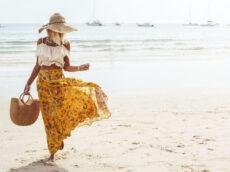 kwiecista sukienka i wyspa capri